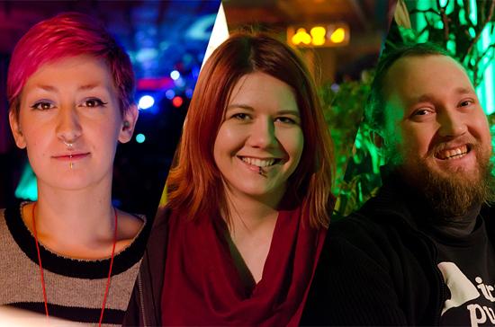 Piraattinuorten edustus: Mira Salmela, Veera Kontiokari ja Joonas Mäkinen